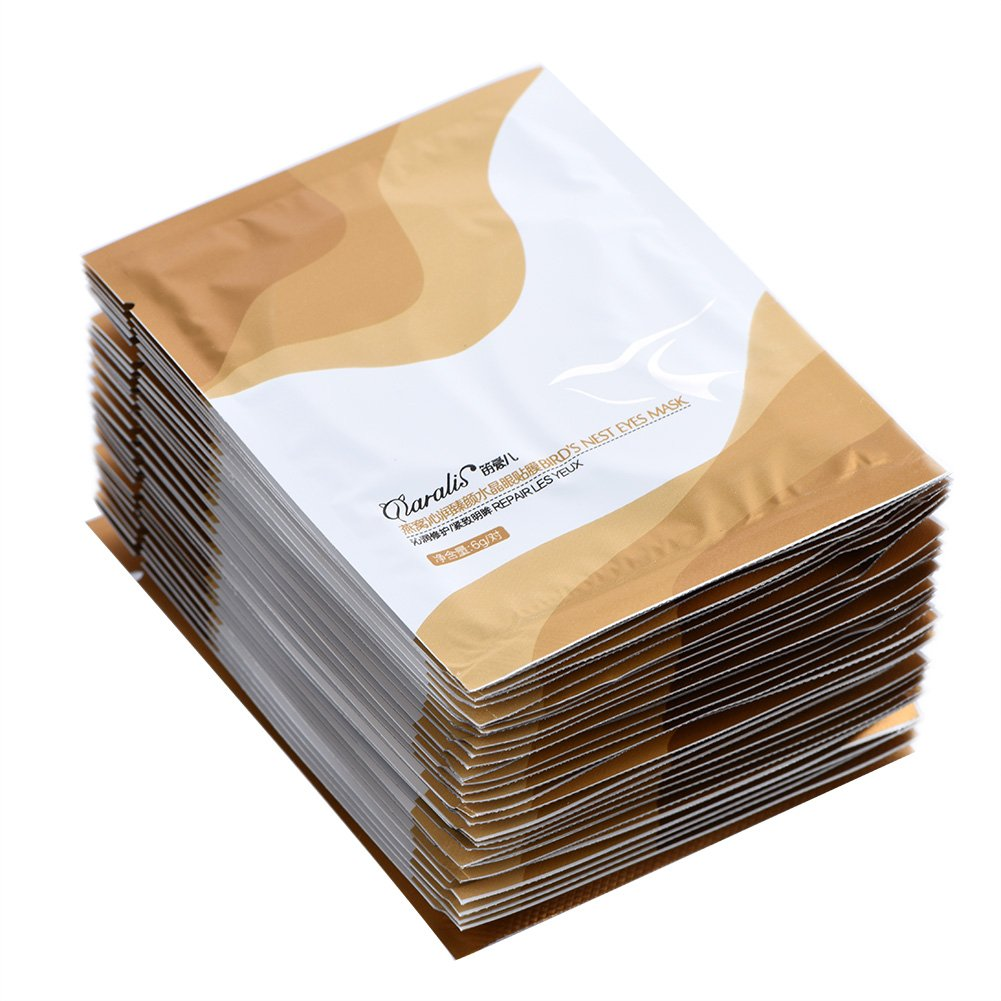 Collagen Eye Mask Bird's Nest Anti Wrinkles Aging Fine Lines Moisturizing Firming Eyelid Patches Pads 30 Pack Zerone