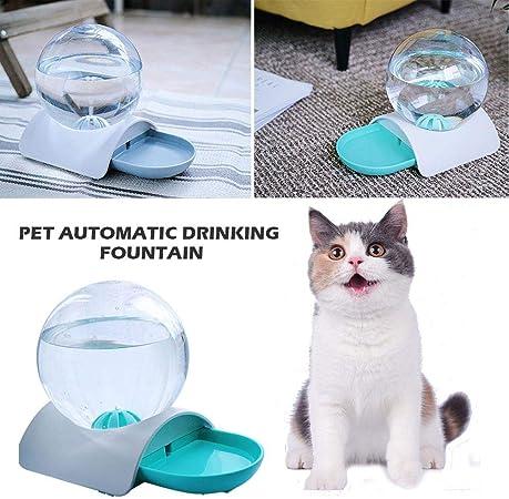 Bebedero automático para Mascotas Fuente dispensadora de Gatos Agua con Botella de Agua esférica Fuente para Beber para Mascotas para Perros y Gatitos Dispensador de Agua para Gatos Exquisito Lindo: Amazon.es: Hogar