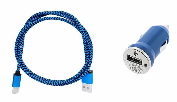 Huawei P9 Lite Azul Coche Cargador con reversible tipo C ...