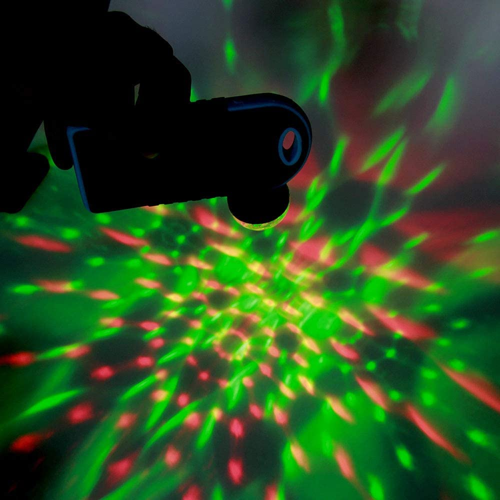 1 pezzi, per IOS Mini luci da palco Feleph Micro USB Mini RGB LED Lampadina 4W Stage Light Sound Control Club Pub Disco Party Music Crystal Feleph Micro USB Mini RGB LED Mini USB Disco Light