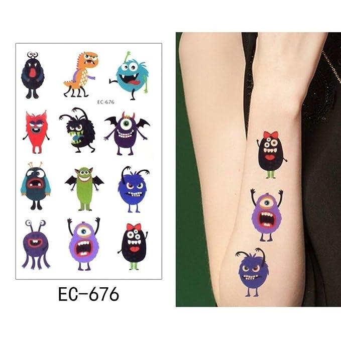 adgkitb 5pcs Tatuaje Temporal Pegatina pingüino Tatto Impermeable ...