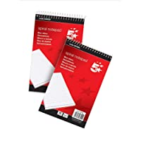 5 Star Office Spiral Notepad Headbound Ruled 160 Pages 80 Sheets 127x200mm [Pack 10]