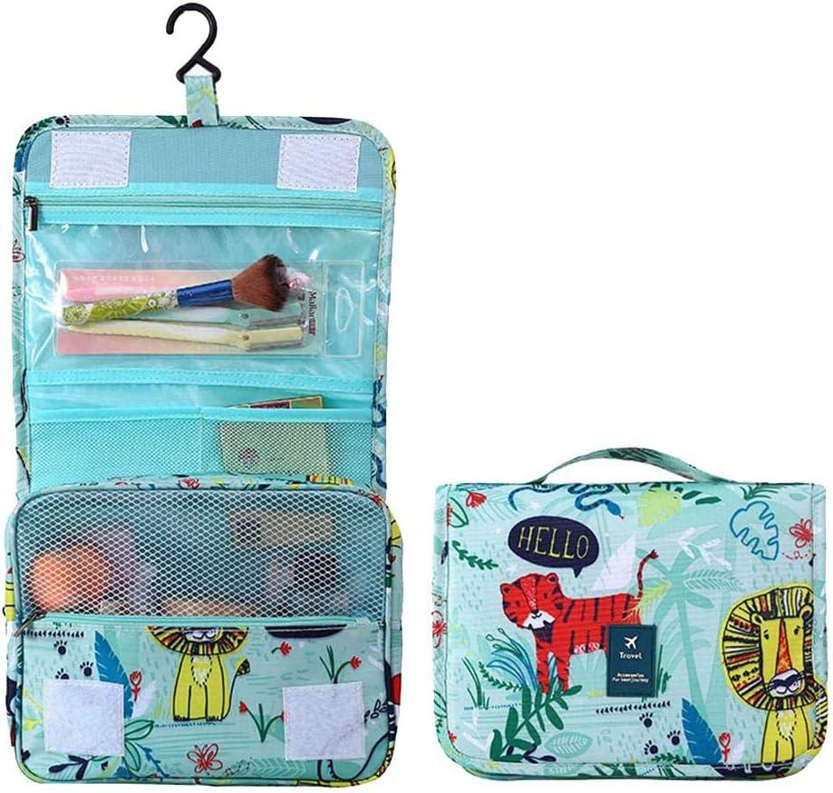 Wimagic - Little Tiger Travel Bolsa de almacenamiento de gran capacidad, Estuche para cosméticos, Bolso de lavado con gancho para hombres y mujeres, Bolso para cosméticos a prueba de agua: Amazon.es: Belleza