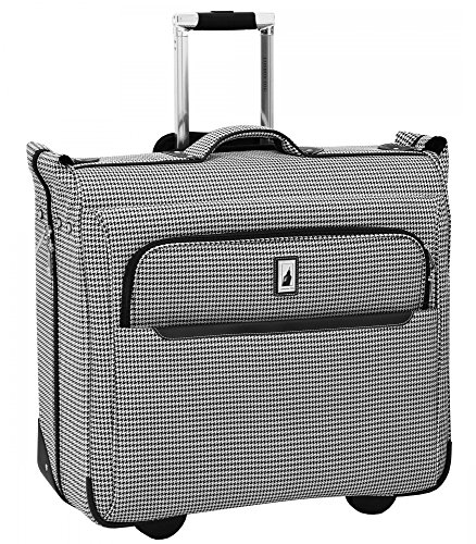 London Fog Cambridge II 44'' Wheeled Garment Bag, Black White Houndstooth by London Fog