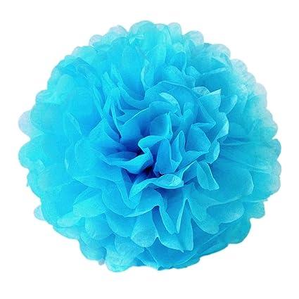 JZK® 10 x Pompones flores papel seda pom pom pon pon pom pon pompones pompom ponpon pompon para decoración boda cumpleaños fiesta bautismo