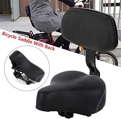 Universal Comfortable Tricycle Mountain Bike Bicycle Saddle Seat Pad w//Back Rest