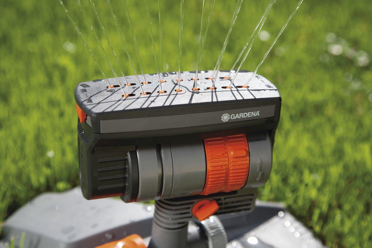 Gardena 02068-20 Twist Classic 4 Pattern Area Sprinkler - Grey/Orange/Black