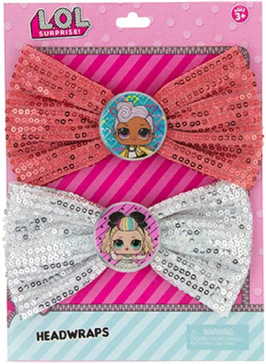 LOL Surprise Party Supplies Party Favors Collection 2 Pack Sequin Bow Headband