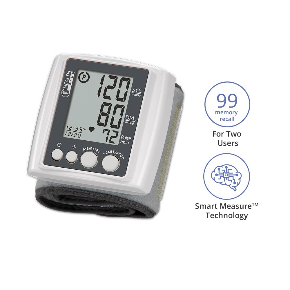 Amazon.com: HoMedics BPW-201 Automatic Wrist Blood Pressure Monitor with Supersize Digits, Smart Measure Technology and Irregular Heartbeat Detector: Health ...
