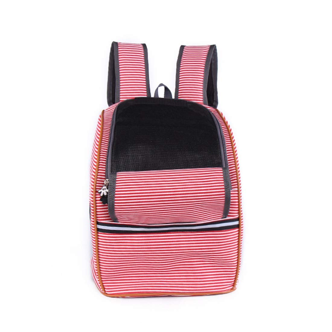 Canvas red stripes 26X26X37cmHUAyue Pet Backpack Prosperous Carrying Bag Breathable Cat and Dog Pet Supplies (color   Canvas bluee Stripes, Size   26X26X37cm)