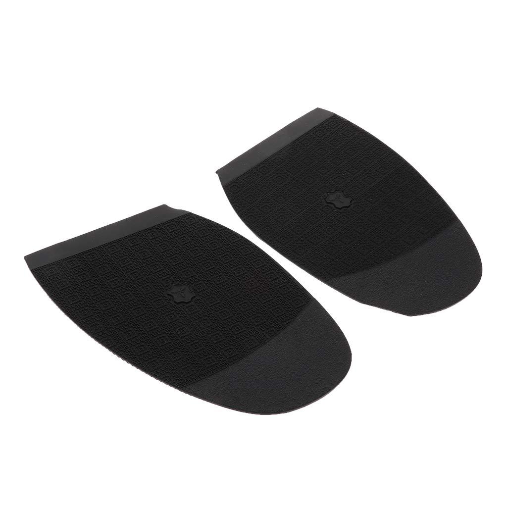 IPOTCH Schuhbedarf Gummisohlen zur Reparatur von Schuhsohlen Schwarz Anti Rutsch