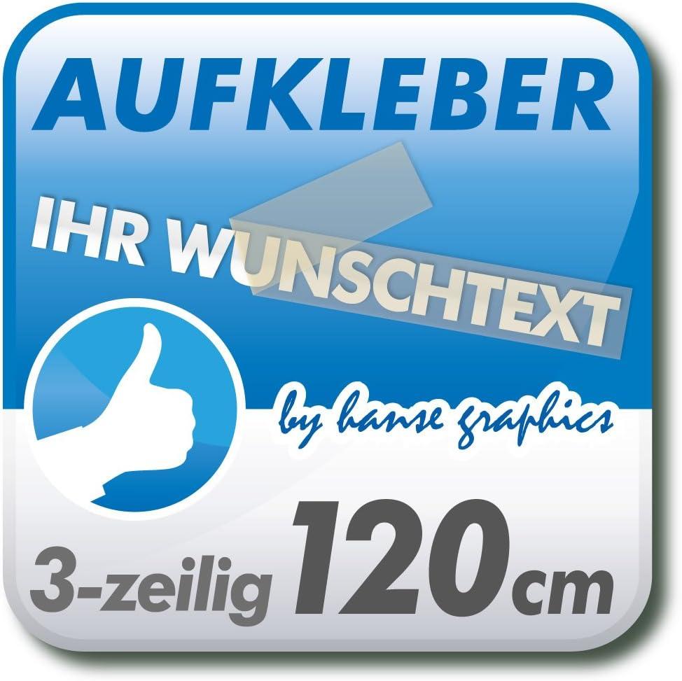 Aufkleber Klebeschrift Folienbeschriftung Mit Wunschtext 3 Zeilig 120cm Lang In Wunschfarbe Und Schrift Auto