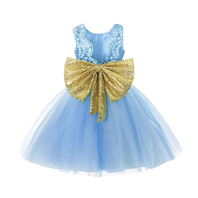 31713e72e80 Dresses Girls 3T Sky Blue Halloween Xmas Wedding Party Lace Dress 3-5 Years  Formal
