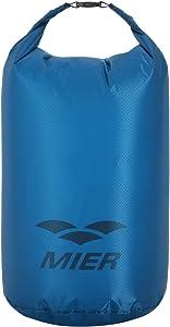 MIER Ultra Lightweight Dry Sack Waterproof Roll Top Dry Bag, Cordura Fabric, 2L/5L/10L/15L/20L/25L, Orange/Blue