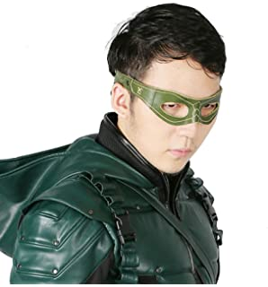 XCOSER Arrow Mask Real Leather Oliver Queen Laurel Sara Cosplay Props 2016