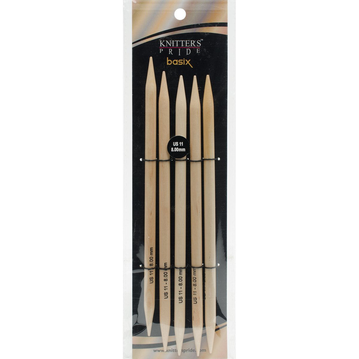 Knitter's Pride Basix Double Pointed 8-inch (20cm) Knitting Needles; Size US 15 (10.0mm) 400103 Knitter's Pride BCAC19910