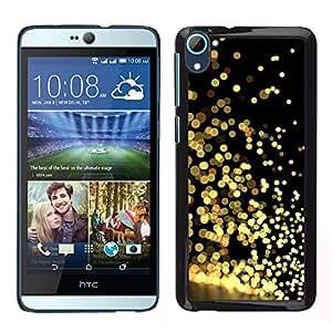A-type Arte & diseño plástico duro Fundas Cover Cubre Hard Case Cover para HTC Desire D826 (Gold Glitter Black Reflective Bright Shiny)