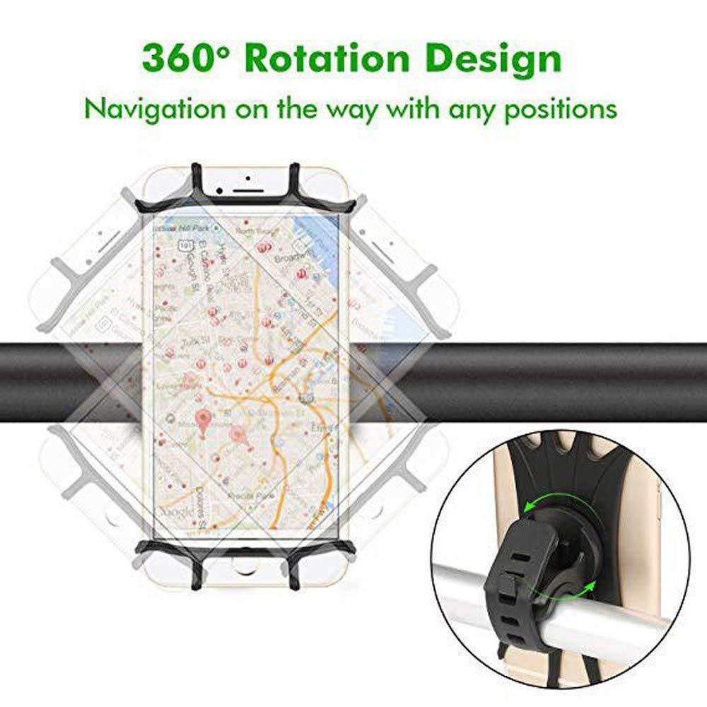 T/él/éphone Holder Fulltime Universal Silicone R/églable Pull Bouton Anti-choc T/él/éphone Intelligent GPS Support de fixation pour V/élo V/élo Moto