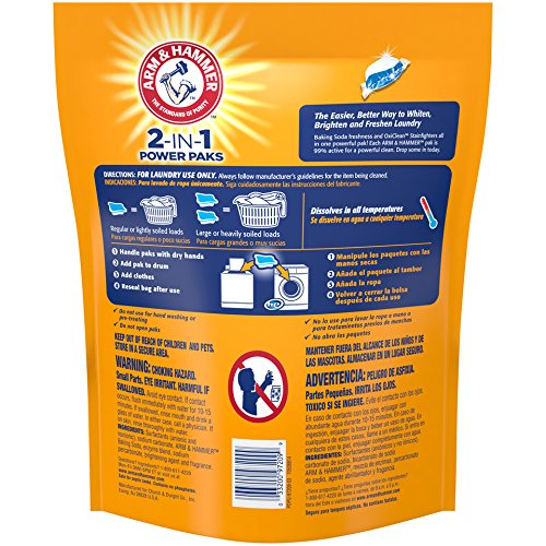 Amazon.com: Arm & Hammer 2-IN-1 Laundry Detergent Power Paks, 32 ct: Health & Personal Care