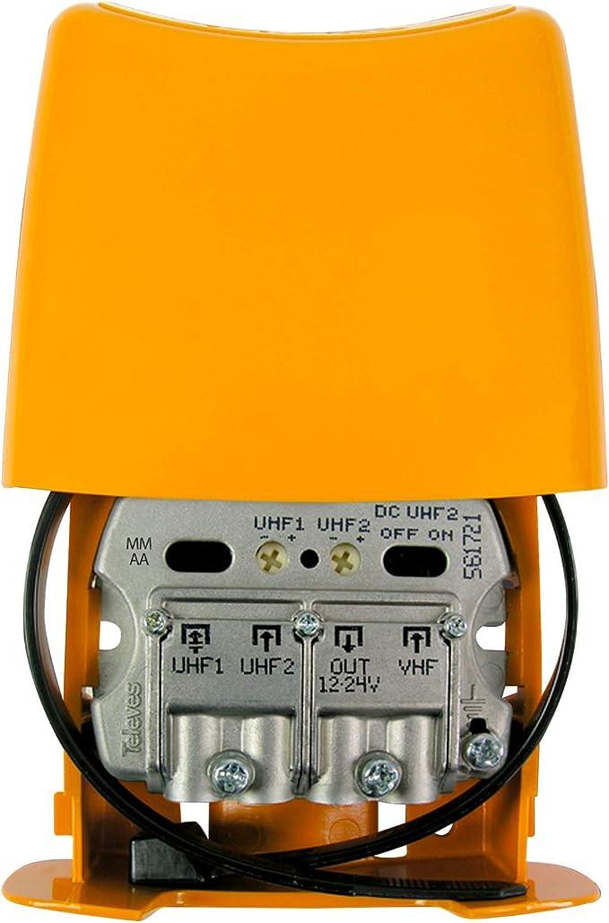 Televes Amplificador Mastil 28db 3e UHF-UHF-vhfmix Lte790 ...