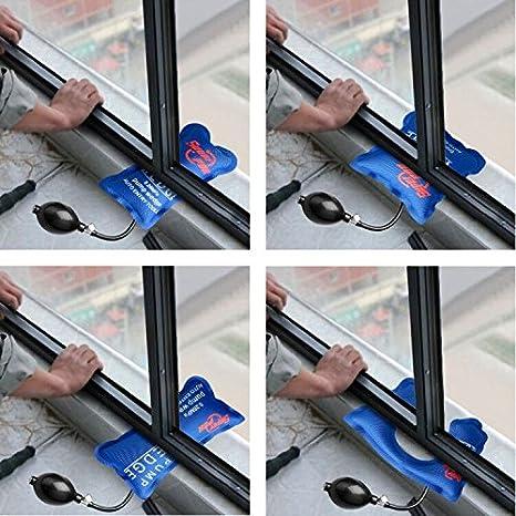 4 Pcs Air Wedge Pump Up Super PDR Bomba de Aire Professional Locksmit Aire Bomba de Cuña Herramienta de Alineación Manguito Inflable Amortiguado ...