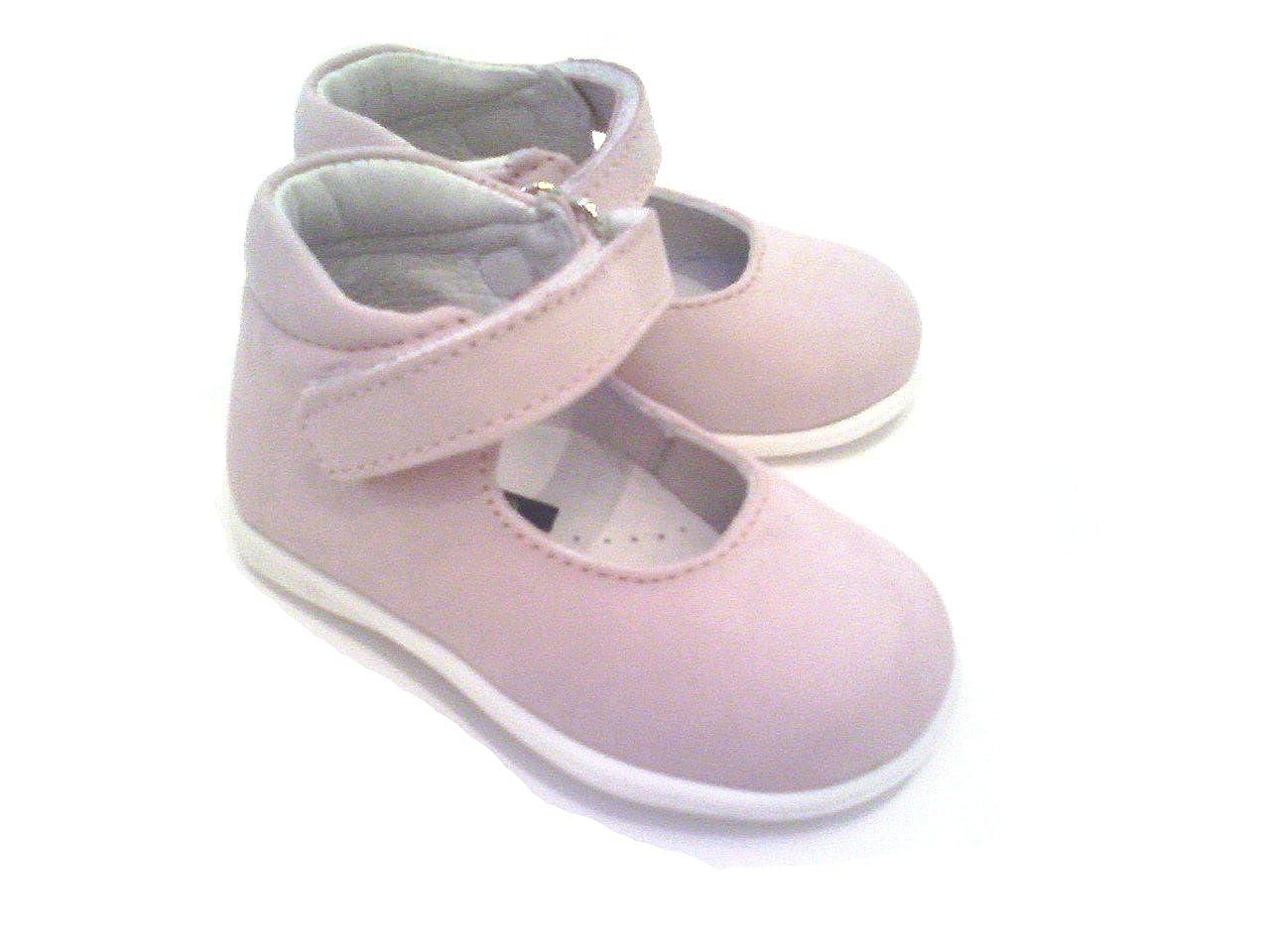9cb85f5c50657 Scarpe bambina primi passi ballerine Mary Jane n 18 rosa pastello apertura  a strappo artigianali vendita online  Amazon.it  Scarpe e borse