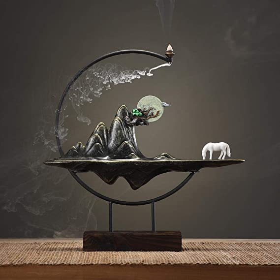 部屋の入り口のバックオフィスのデスクトップの装飾家具、ホームインテリアサンダルウッドアロマセラピー炉を生きて香香炉の装飾品,ウォン・リ金山(キット)