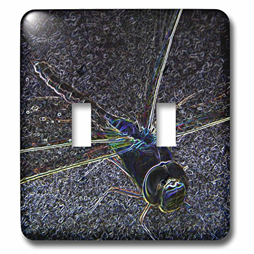 3dRose lsp_171505_2 Dragonfly Neon Light Switch Cover (Neon Dragon)