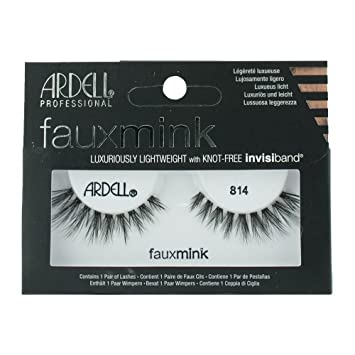 323fea53f64 Amazon.com : Ardell Black Faux Mink Strip Lashes 814 : Beauty