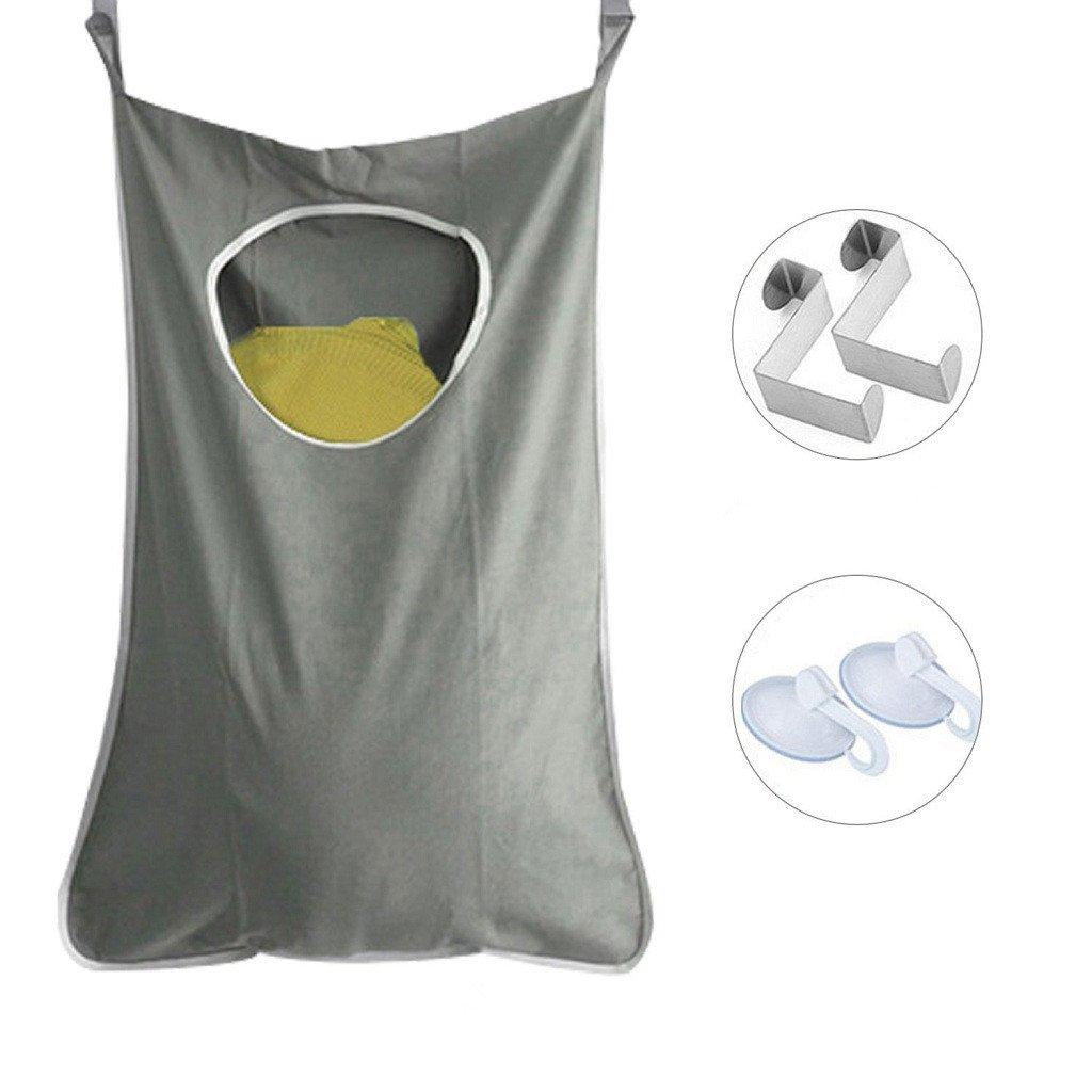 IvyH Pochette da bucato appesa - Vestiti Storage Bags Door Hanging Armadi Storage Nook lavanderia per dormitorio del college, bagno e lavanderia Zhongding