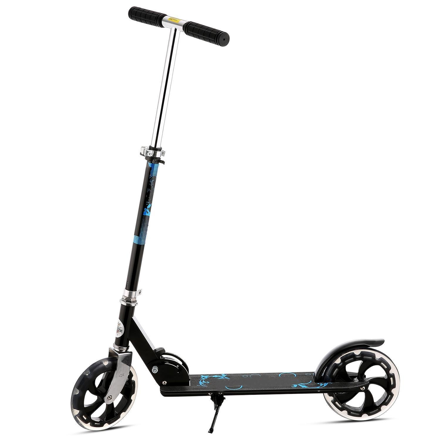 Kaluo Folding Kick Scooter 2 Wheel 3 Levels Adjustable Height Portable for Adult Kids(US Stock)