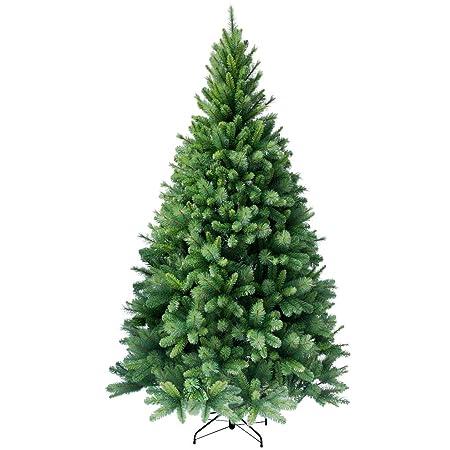 RS Trade HXT 1101 künstlicher Weihnachtsbaum 180 cm (Ø ca. 106 cm) mit 824 Spitzen und Schnellaufbau Klapp-Schirmsystem, schw