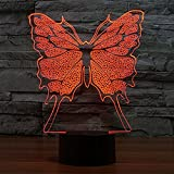 Butterfly 3D LED Night Light Lamps 3D Optical