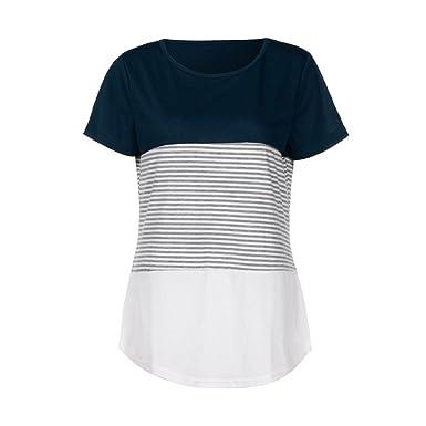 Camiseta para Mujer, STRIR Verano Camisetas Cortas Manga ...