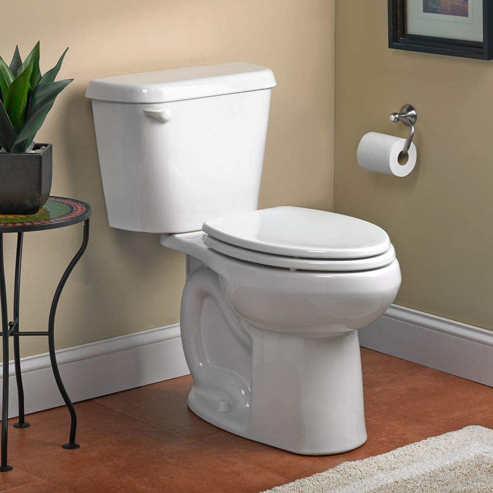 American Standard 221AA004.020 Colony 1.6 GPF 2-Piece Elongated Toilet with 12-In Rough GPF/12-Inch, White/Left Hand - -