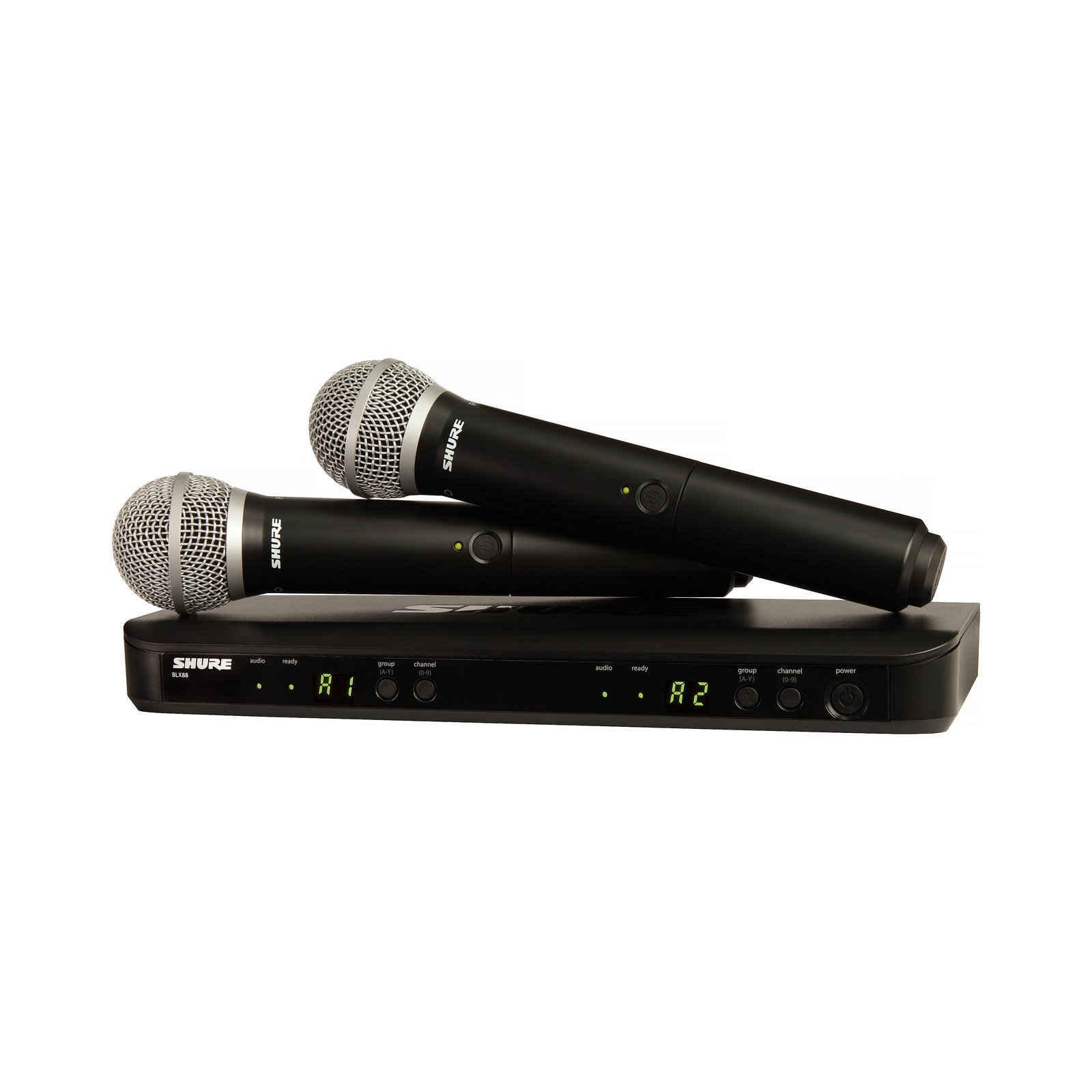 Shure BLX288/PG58 H9 | Two PG58 Handheld Microphones Dual Channel Handheld Wireless System by Shure (Image #1)