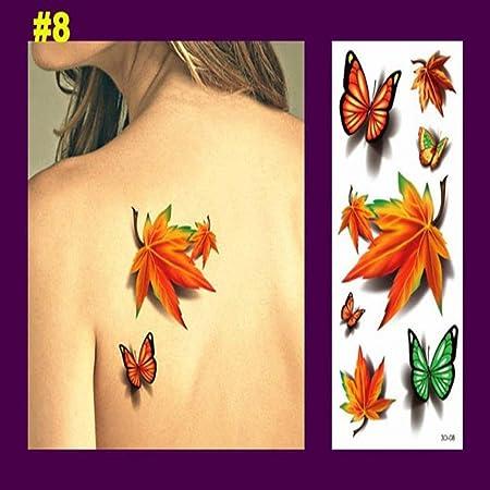 adgkitb 4pcs 3D Magpie Tatuaje Temporal Pegatinas Impermeable ...