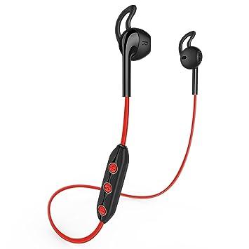 Honstek H1 Inalámbrico Bluetooth 4.1 Deportes Auriculares para iPhone, Samsung Galaxy, teléfonos Android, ordenadores portátiles, tabletas, escritorio y ...