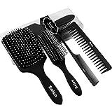 Hair Brush-Paddle Brush,Curly Hair Brush,Detangling Brush,Hair Comb,Hair Brush Set for Women Men,Professional Hair Brushes for Wet,Dry,Thick,Thin,Straightening,Wave,Curly Hair by Balon