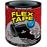 Supreme Strong Rubberized Instantly Stops Leaks Waterproof Flex Tape, Size : 4'' x 5' (Black)