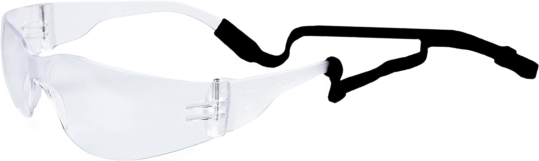 Atope 149.01- Gafas contra impactó con cordón ajustable, Transparente, L