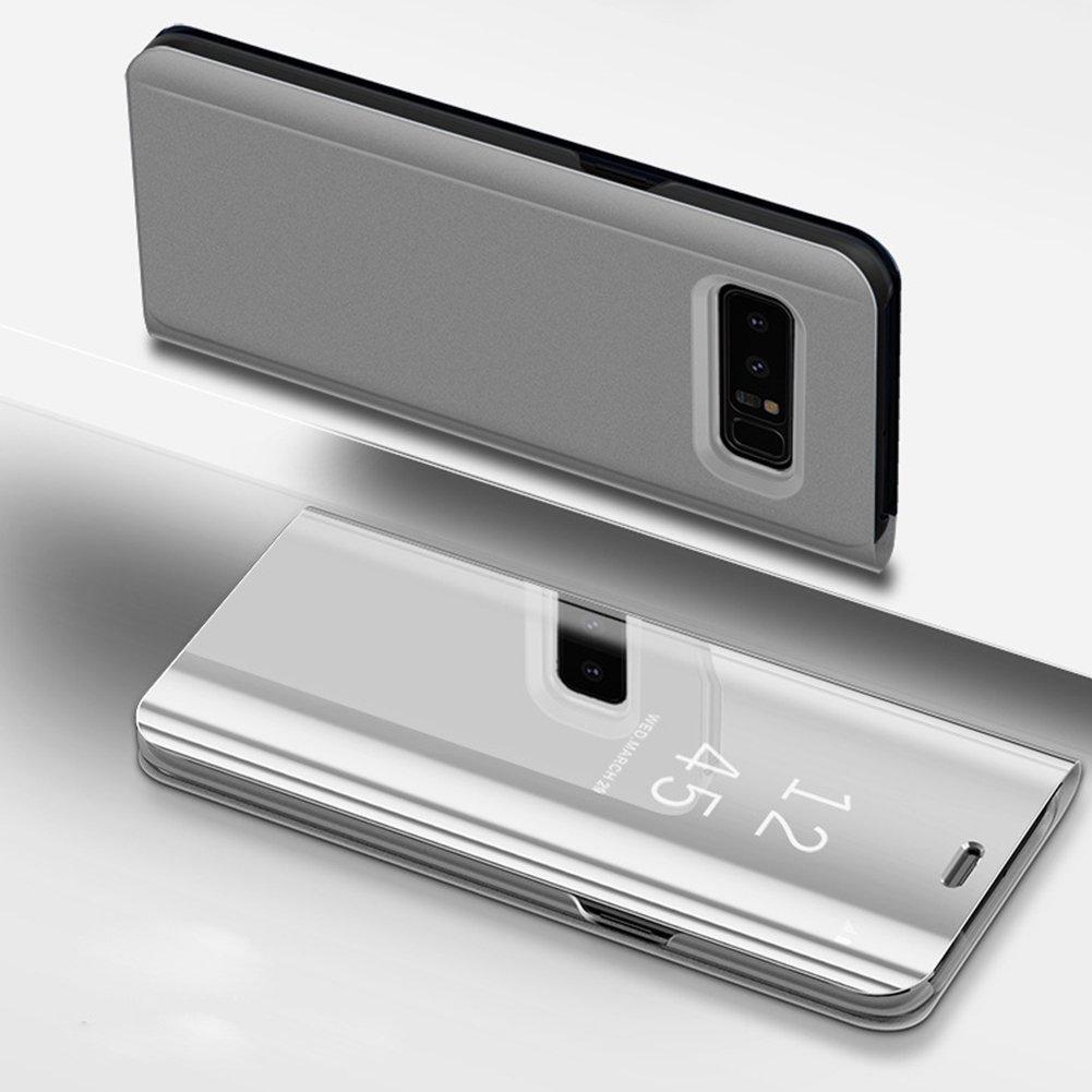 Coque Samsung Galaxy S7 edge,Miroir Coque Samsung Galaxy S7 edge Samsung G935 Clapet, SaKuLa Ultra Slim Flip Case Housse Folio Étui en PU Cuir avec Transparente pour Samsung Galaxy S7 edge Samsung G935 [fonction de support] en Ultra Resistante Mode de Luxe