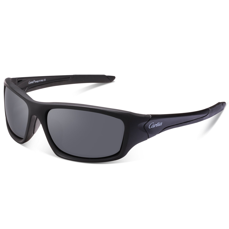 Sports Sunglasses - Carfia Polarized Sunglasses for Men Women Ultralight Comfy Frame (Style-Grey Lens-2, Multicoloured)