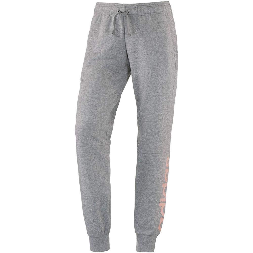 TALLA XL. adidas Essentials Linear Pantalón, Mujer, Gris (Medium Heather/Haze Coral s17), XL