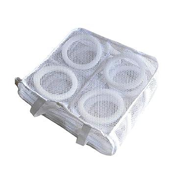 OUNONA Zapatillas de Malla para Lavar y secar Bolsas de Almacenamiento Bolsas Sujetador Bolsa de lavandería Sujetador Bolsa de Lavado para Lavadora: ...
