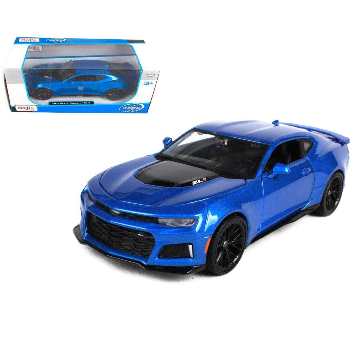 Special Edition Collection New 1 24 W B SPECIAL EDITION Blue 2017 Chevrolet Camaro ZL1 Diecast Model Car By Maisto