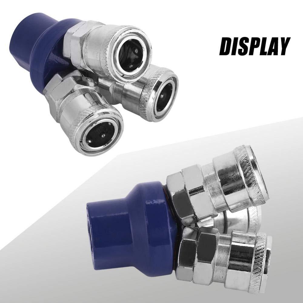 1//4 Conector de enchufe hembra para manguera de aire de 3 v/ías de montaje r/ápido neum/ático