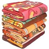 S - Dim Polar Fleece Single Printed Bed Blanket Set of 5-Multicolor