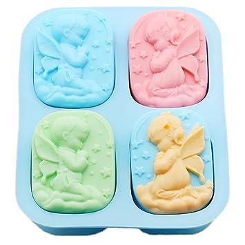 Scrox 1x Molde de silicona conveniente del molde de pasteles para el helado Torta de azúcar ...