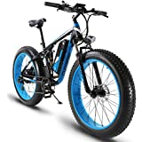 Cyrusher XF800 26inch Fat Tire Electric Bike 1000W 48V Snow E-Bike Shimano 7 Speeds Beach Cruiser Mens Women Mountain e-Bike Pedal Assist, Lithium Battery Hydraulic Disc Brakes